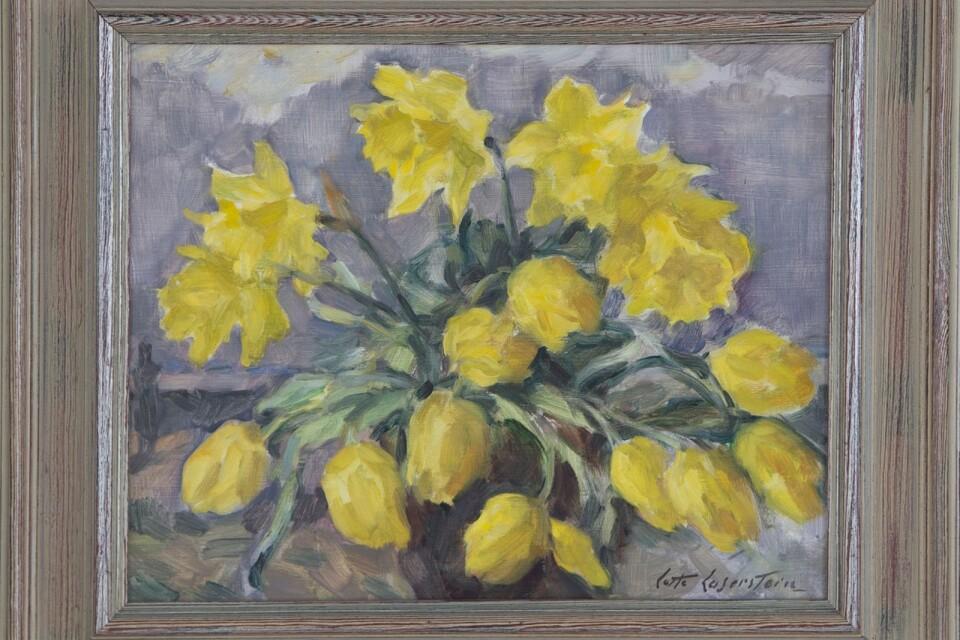 Blomstermålning av Lotta Laserstien