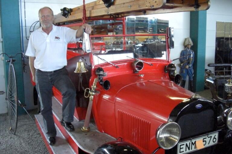 Nu säljs den 91 år gamla brandbilen – var stadens första