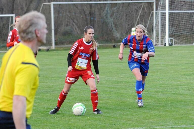 Fanni Mattsson gjorde en bra match som ytterback och blev även målskytt när GAIF besegrade Ramdala med 5-0.