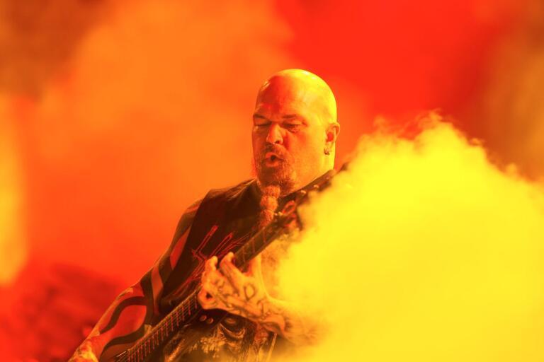 Slayer levererade de en intensiv och fartfylld show med eld, dödsestetik och skrik på Sweden Rock.
