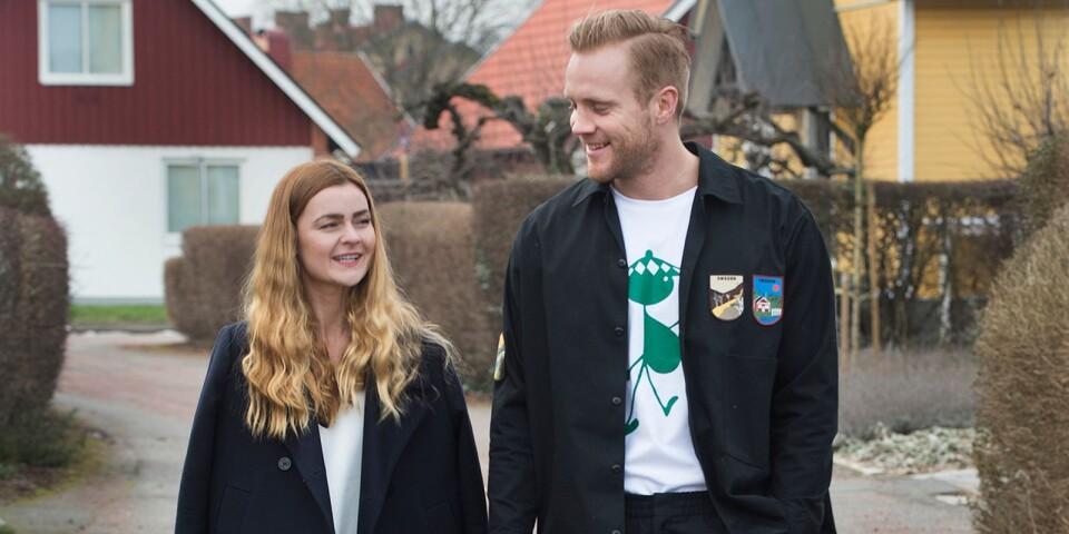 Elisabet Gunnarsdottir och Gunnar Steinn Jonsson gillar båda klassiska, enkla kläder.