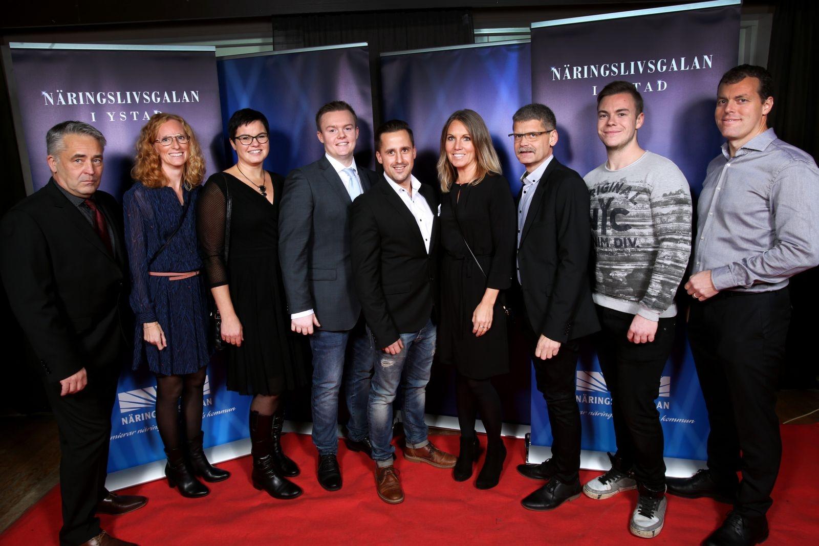 Leif Svensson, Sara Börjesson, Anna Olsson, Linus Danrup, Marcus Malmros, Susanne Göransson, Anders Lindé, Philip Sköld och Stefan Olsson, Gebo snickerier