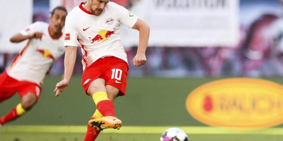 Emil Forsberg gjorde mål från straffpunkten.