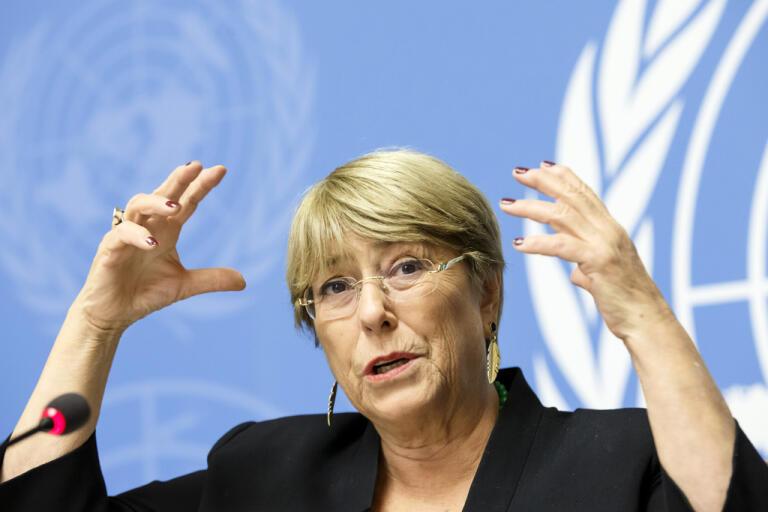 FN:s människorättschef Michelle Bachelet.