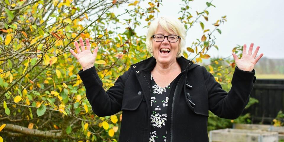 Skrattyogainstruktör Maria Samuelsson.