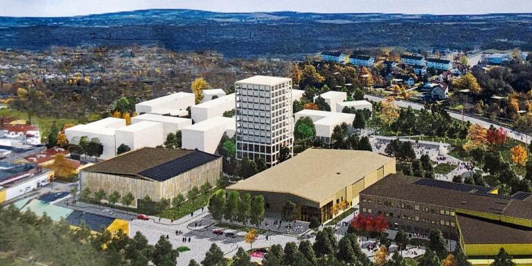 Cirka 250 bostäder ska byggas i den nya stadsdelen intill Lyckeskolan. När exploatörerna kom med sina förslag visade det sig dock att de flesta ville bygga bostadsrätter.