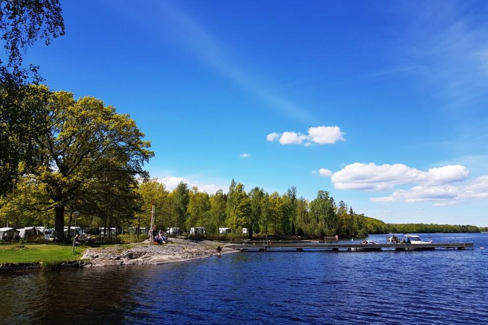 Kärransands camping lockar gäster från stora delar av södra Sverige.