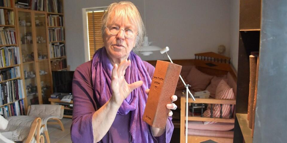 Ulla Viotti berättar att hon blev överraskad när Sune Nordgren på Kivik Art Centre kontaktade henne. – Att få göra en stor tegelinstallation i den redan internationellt mycket uppmärksammade skulpturparken är ju som en dröm, säger konstnären.