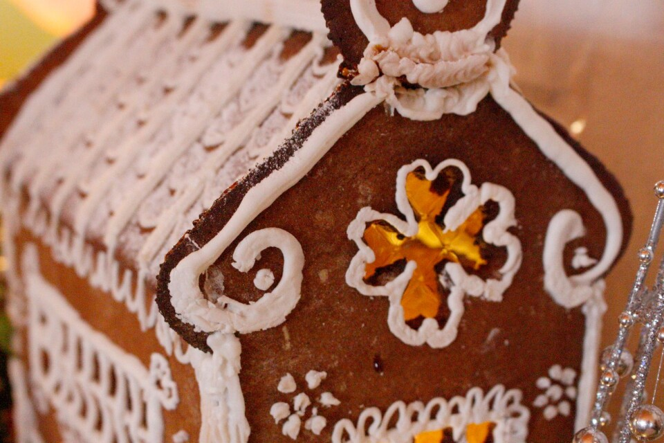 Competition to make the best gingerbread house.
