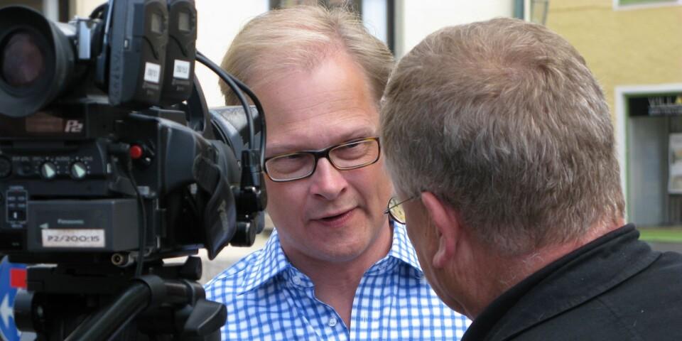 Mats Knutson, SVT:s inrikespolitiske kommentator, som själv kommer från Sölvesborg,