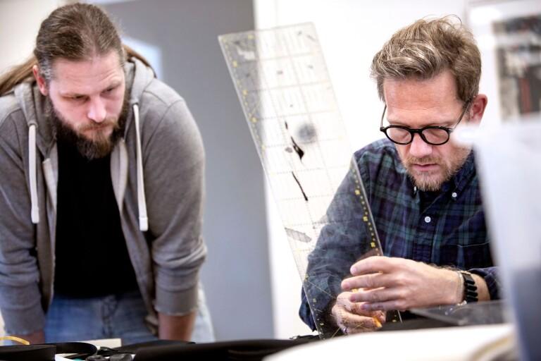 André Wallenborg har sin ateljé i norska Moss när han inte är ute och håller kurser.