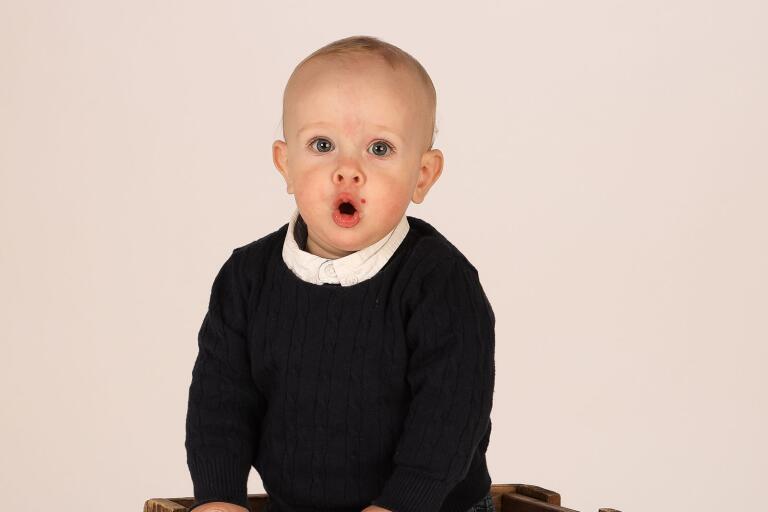 Knut tio månader, son till Liza och Mathias Lasson, Svedala.