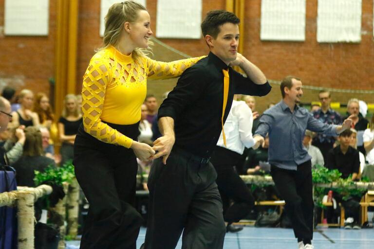 Maria Johansson och Björn Lindman tog hem segern i Nordic cup i Stenbockshallen.