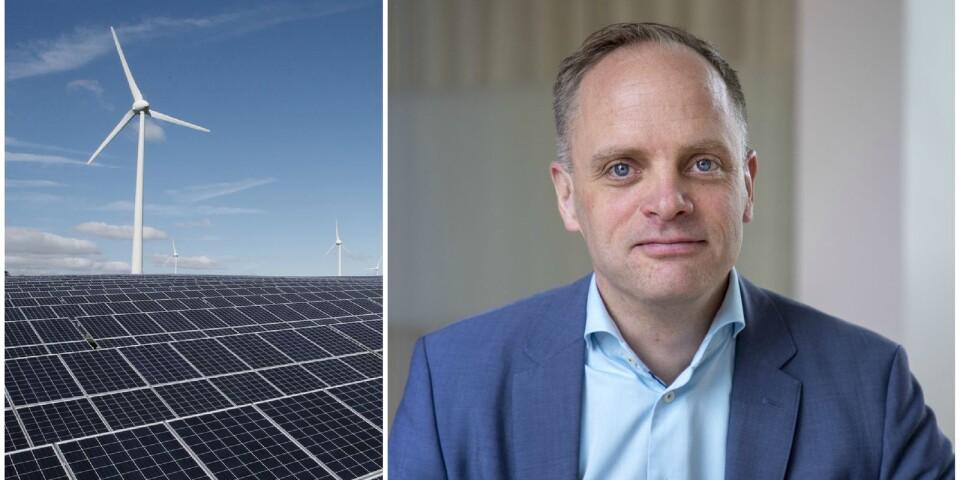 Jonas Stenbeck, privatkundschef vid Vattenfall försäljning.