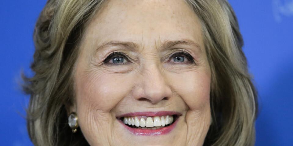 """Hillary Clinton är i Berlin för att vara med om lanseringen av tv-serien """"Hillary"""" som sänds i SVT senare i vår."""