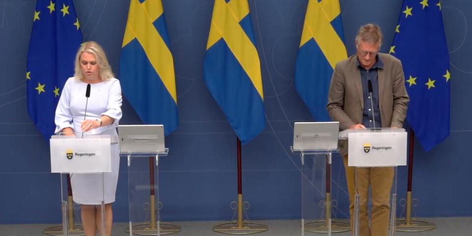 Under torsdagen kallade socialminister Lena Hallengren samt statsepidemiolog Anders Tegnell till presskonferens.