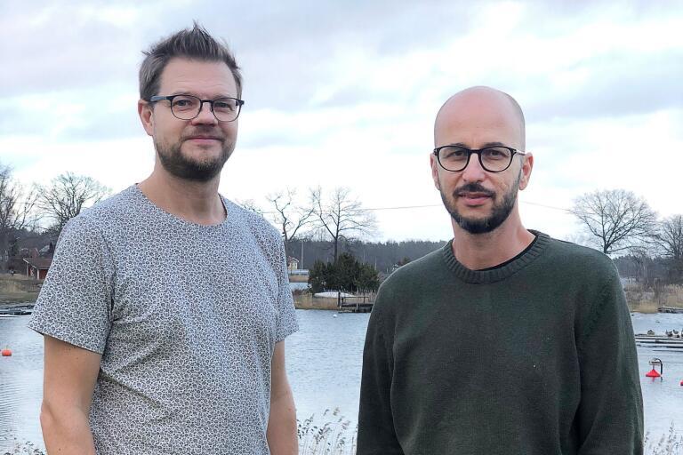 Marcus Ottosson och Fredrik Wenell tar över driften av gästhamnen och affären i Klintemåla från och med i sommar.