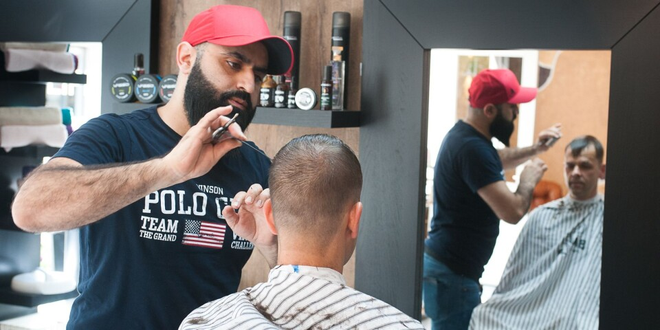Mohammed Kher al Swiden startade MQW barbershop.
