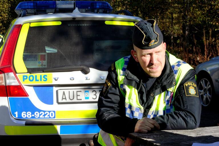 Gruppchef Fredrik Westerholm var med i insatsen som berörde flera orter i norra Kalmar län, bland annat Oskarshamn.