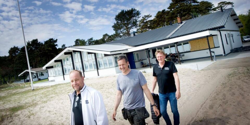 Läget är den stora fördelen, tycker Hasse Nilsson, Bertil Andersson och Anders Holmström.