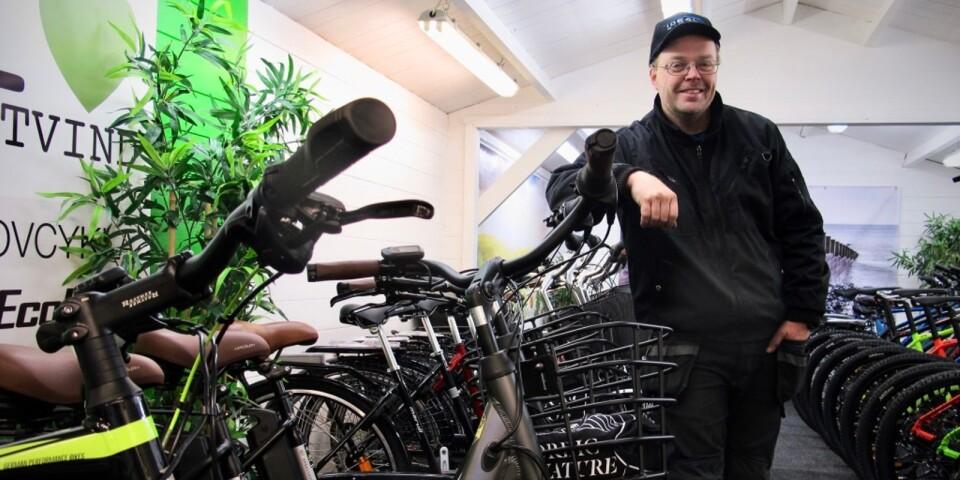 Martin Ockedal är säker på att elcyklar är framtiden.