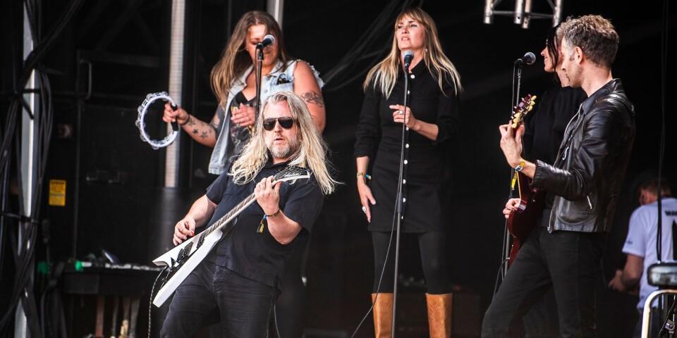 """Chips Kiesby var en av dem som såg till att """"Rock på svenska"""" kunde avslutas efter """"Strängens"""" död."""