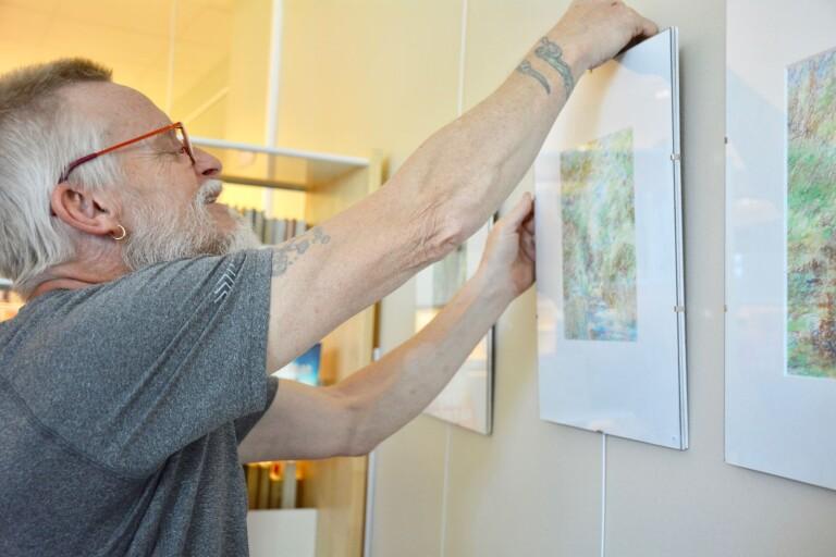 """Olika årstider i fokus på utställning: """"Får jag inte måla känner jag mig inte hel"""""""