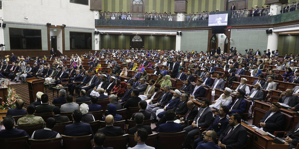 Afghanska parlamentet i Kabul. Arkivbild.