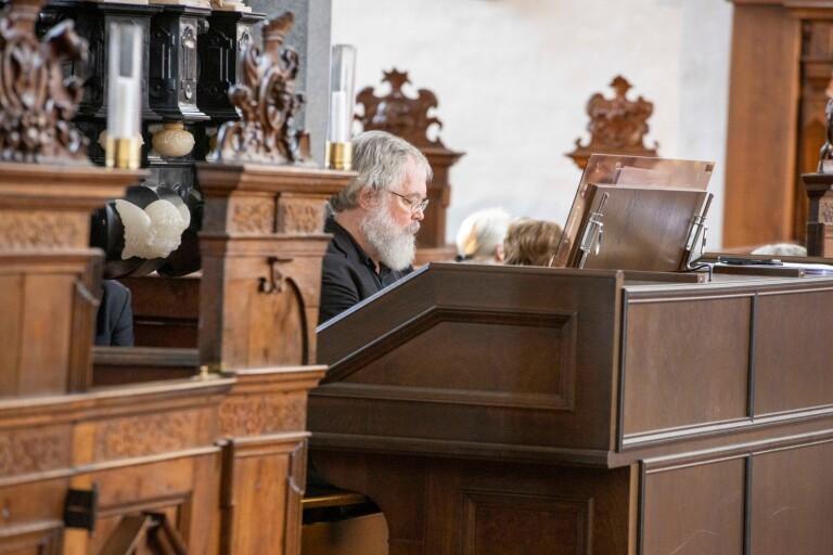 Organisten Johannes Landgren hade två framträdanden under Trefaldighetskyrkans Kulturdagar.