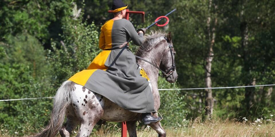 Rosen af Gulstad fångade med lätthet ringen på lansen.