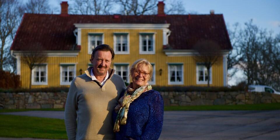 Mia och Sune Markmann på Grimsnäs Herrgård.