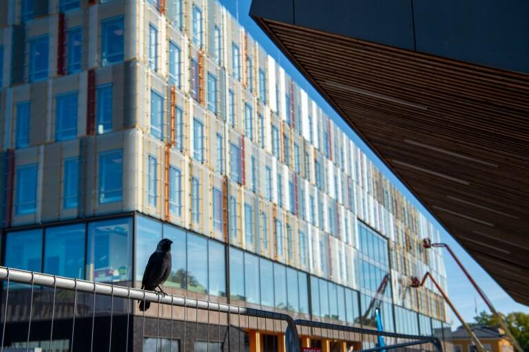 Om ett halvår ungefär är det inflyttningsdags i det nya kommunhuset. Stationen öppnar efter nästa sommar.