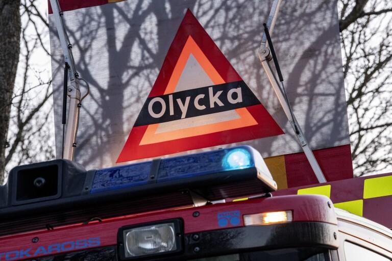 JUST NU: Trafikolycka i Viared – tre personer inblandade