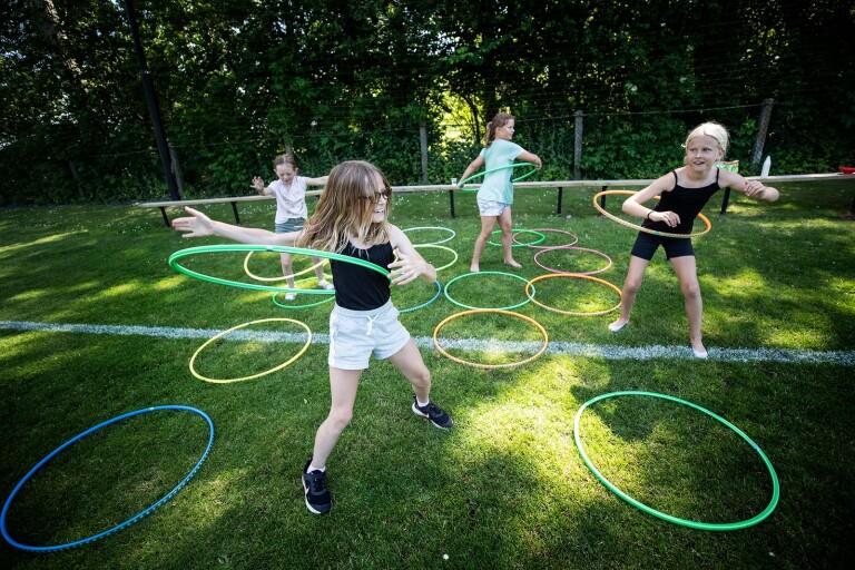 Leken i fokus när fritidsbarnen bjöds in till Snarringe