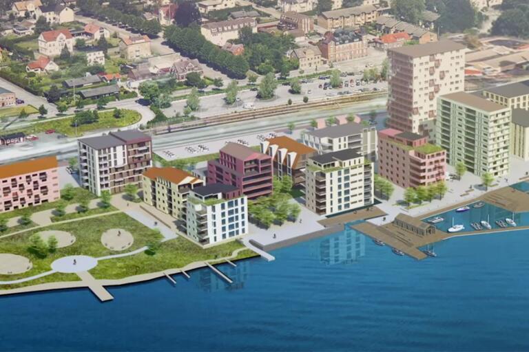 Det nya bostadsområdet är tänkt att innehålla hotell, konferensanläggning, restauranger, förskola, kulturhus och bostäder. En gymnasieskola skulle kunna ge ett extra lyft resonerar politikerna.