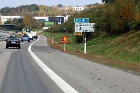 Vägarbetet på motorvägen görs om