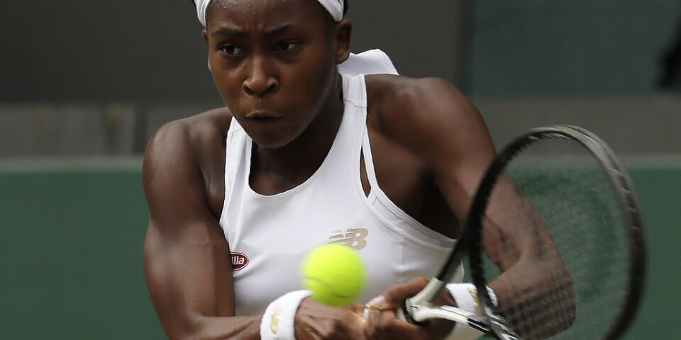 """Cori """"Coco"""" Gauff rusar upp på världsrankningen efter succén i Wimbledon. Arkivbild."""