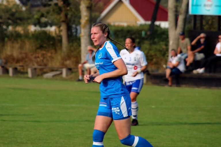 Två mål och tre kvarnar. RM-anfallaren Amanda Andersson var duktig i 5-4-segern mot Näsum.