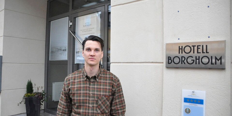 Christofer Johansson har stora planer för Hotell Borgholm som vill bli mer publikt och vara med att utveckla Öland som destination.