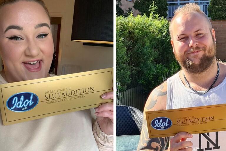 Två guldbiljetter till sydöst – Frida och Mattias vidare i Idol