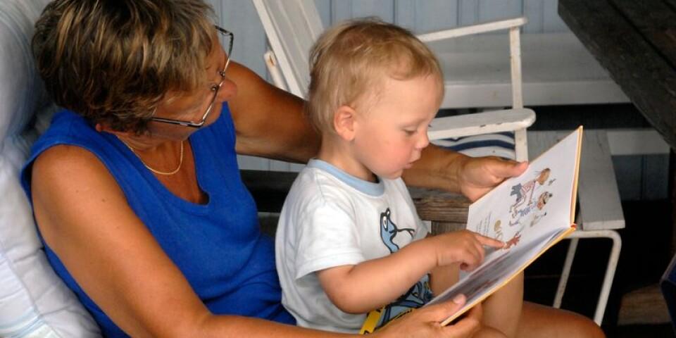 Tidig lästräning är bra för språkets utveckling. I projektet Språkstegen är Ronneby Bibliotek med och arrangerar samlingar för de yngsta barnen mellan noll och tre år.