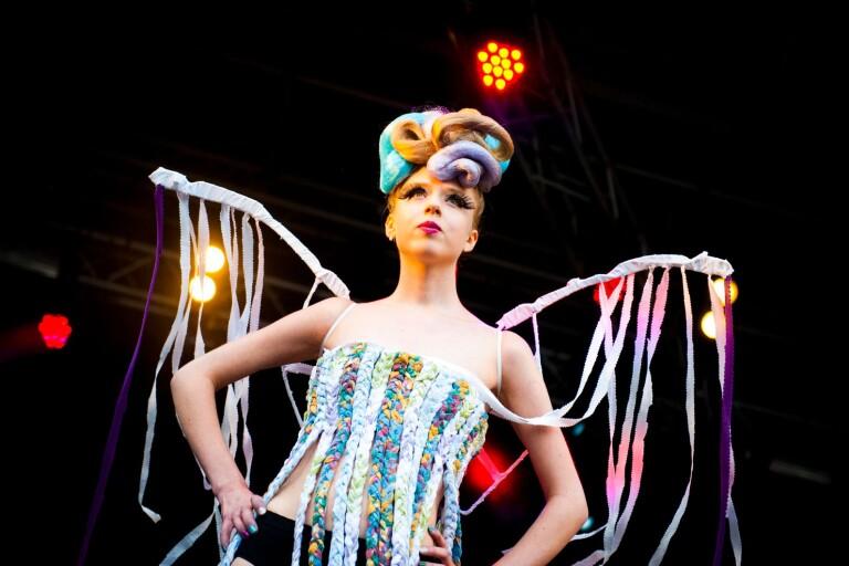 Recycling fashion show.