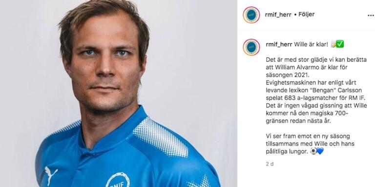 William Alvarmo på RM:s Instagram.