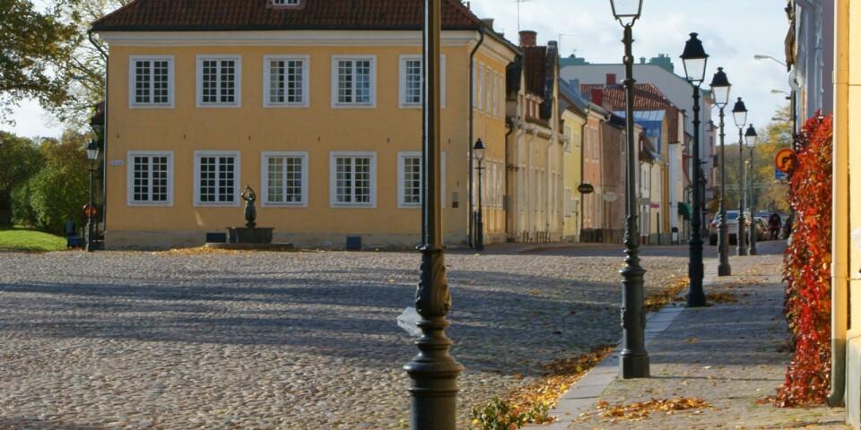 Lilla torget med Domprostgården i Kalmar.