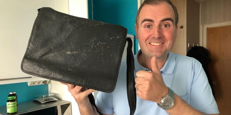 Tjuven ångrade sig – lämnade tillbaka Stefans väska efter
