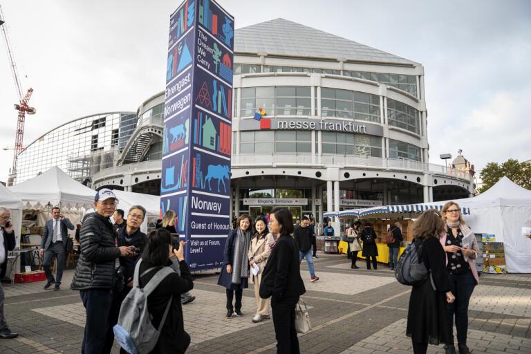 Bokmässan i Frankfurt ska äga rum men många stora förlag stannar hemma. Arkivbild.