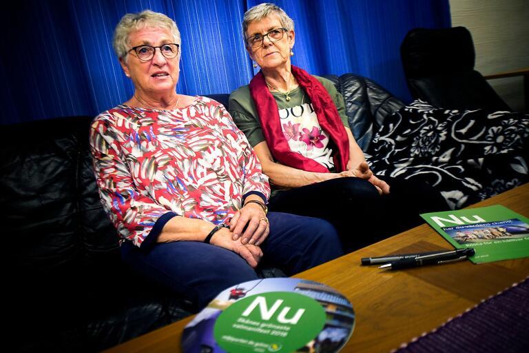 Gruppledare Karin Svensson och ordförande Gunvor Jönsson.