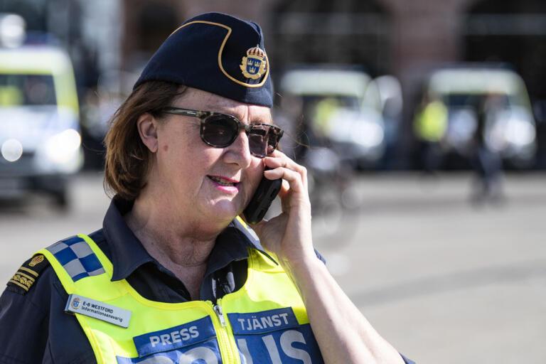 Polisens presstalesperson Ewa-Gun Westford. Arkivbild.