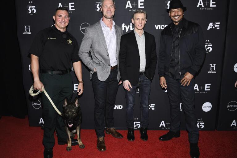 """Nick Carmack, Sean Larkin, Dan Abrams och Tom Morris Jr. medverkar alla i realityserien """"Live PD"""" om polisyrket. Arkivbild."""