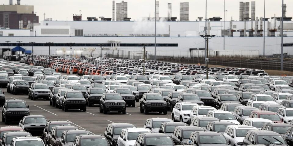 Fiat Chryslers anläggning Jefferson North i Detroit, i en bild från februari.